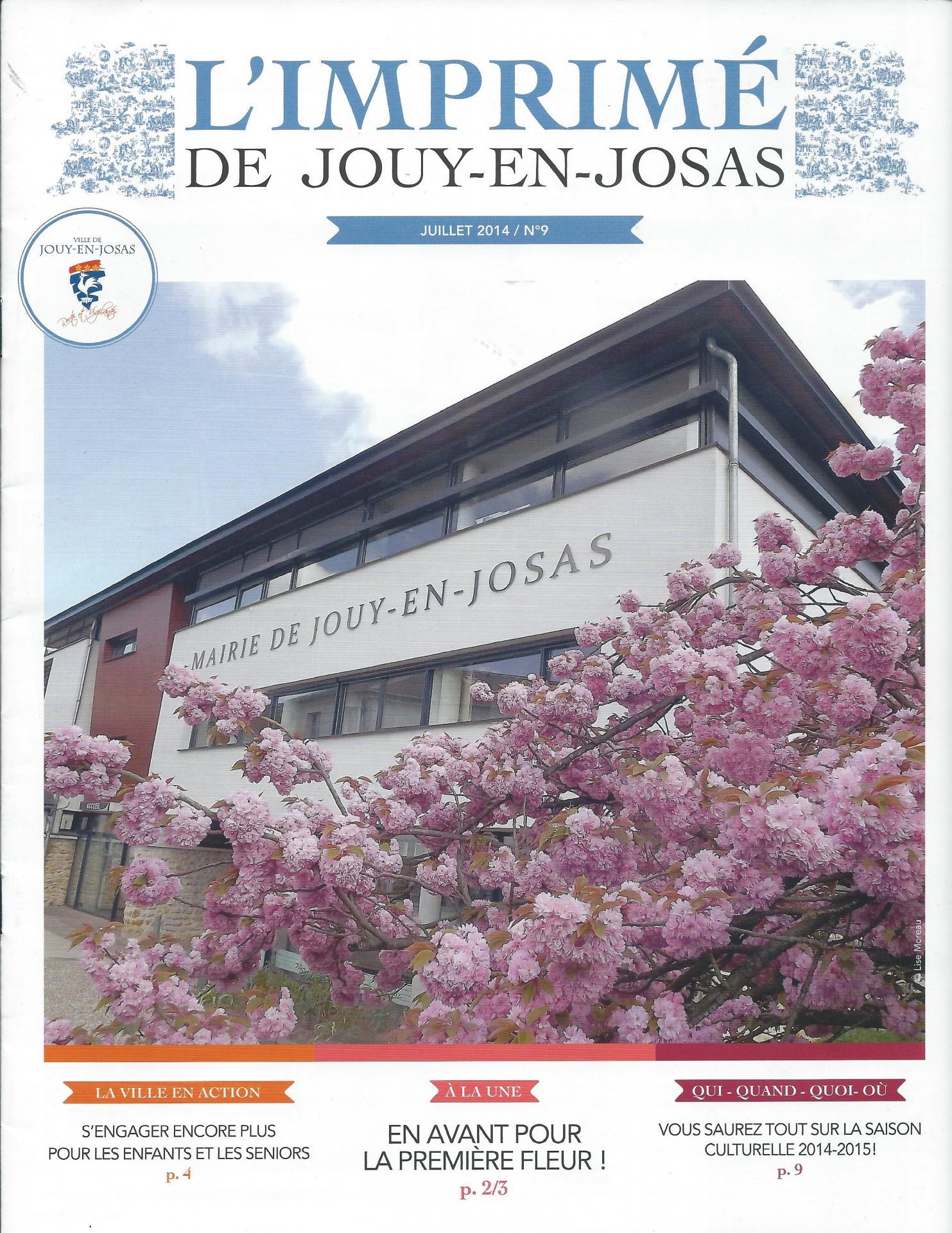 L'imprimé de Jouy en Josas Juillet 2014