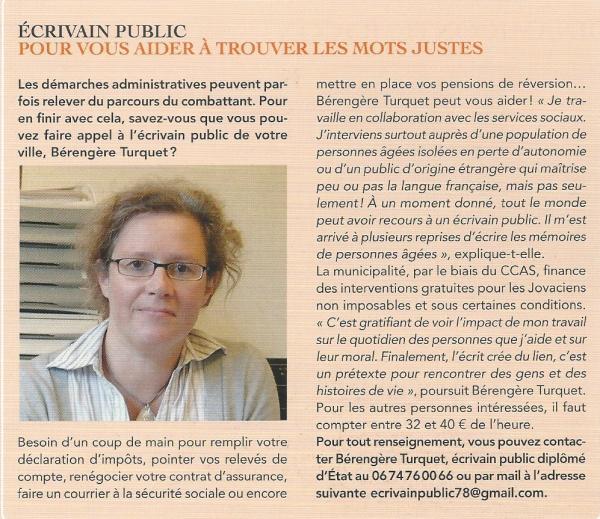 Article écrivain public - juillet 2014